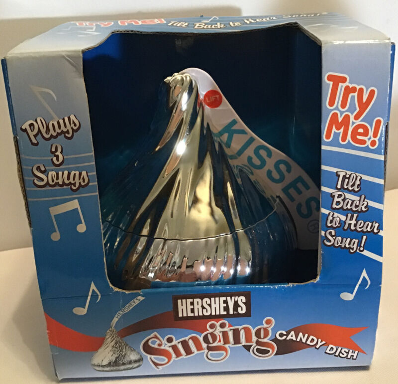New Hershey Singing Candy Dish Plays 3 Songs