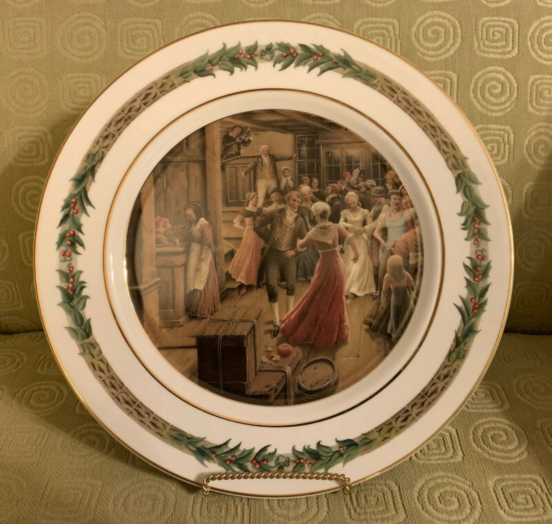 """Department 56 """"A Christmas Carol"""" Plate Illustrated by Roberto Innocenti--Mint!!"""