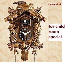 Bird Wall Clock Home Alarm Cuckoo Watch Gold Modern Living Room Decorations New