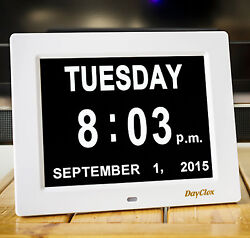 DayClox - Memory Loss Digital Calendar Day Clock w/Non-Abbreviated Day & Month.