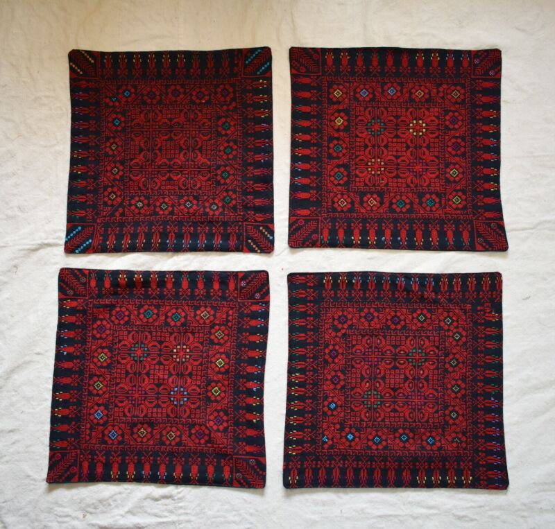 4X Hand Stitched embroidered Egyptian Palestinian Bedouin Tablecloth