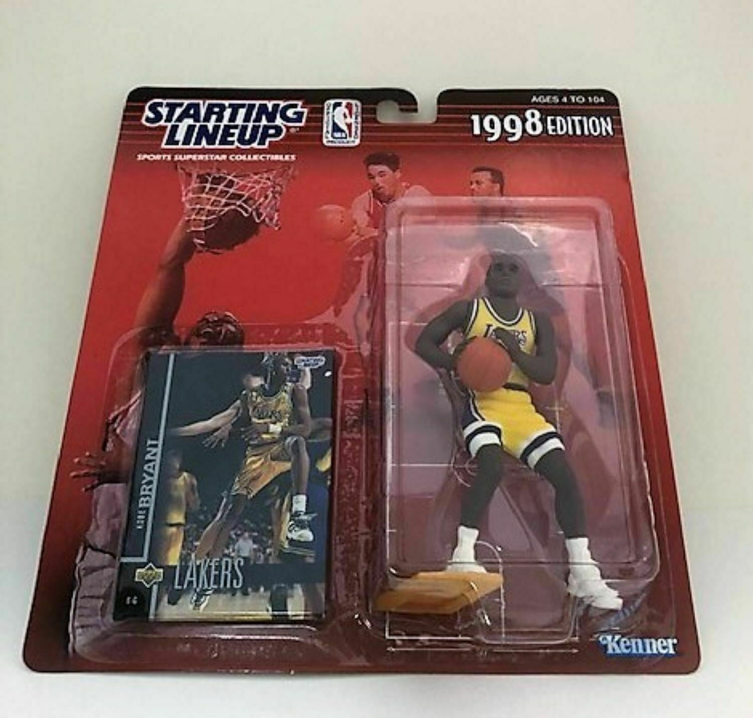 Lakers Unopened Original 1998 Edition Starting Lineup Figure Kobe Bryant L.A