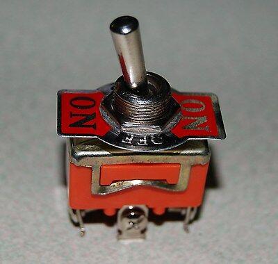 1pc E-ten1122 Panel Mount Onoffon Spdt Rocker Type Toggle Switch Ac 250v 15a
