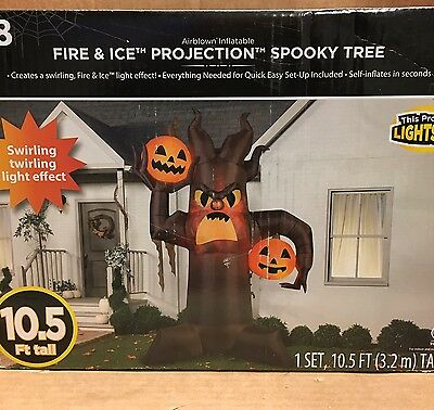 Gemmy SCARY PUMPKIN SPOOKY TREE Halloween Airblown Inflatable Yard Decor Prop (Halloween Inflatable Spooky Tree)