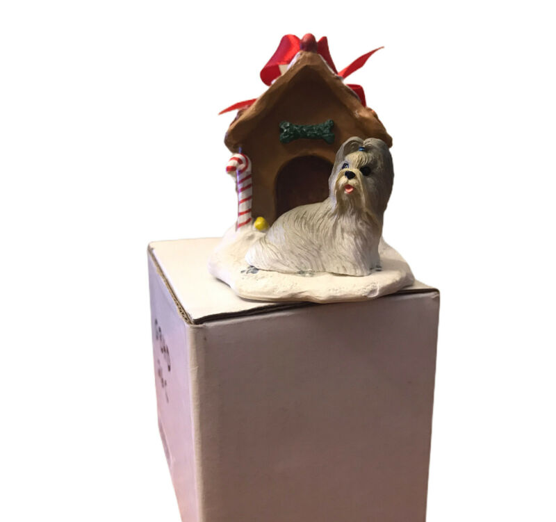 Shih Tzu Christmas Ornament Gingerbread House Gray Dog Ornament New Gift