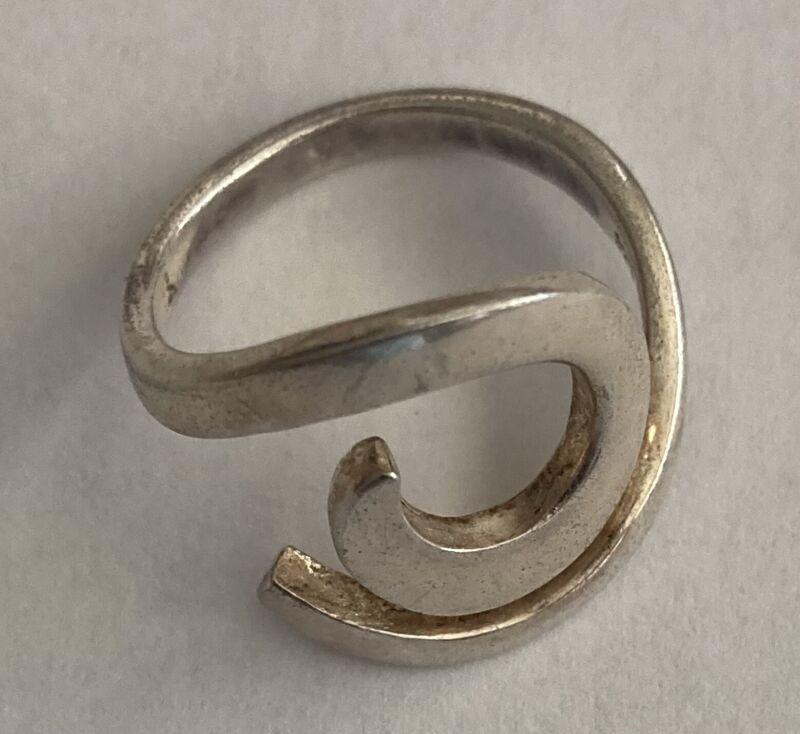 Vintage Sterling Silver Modernist Ring