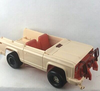 1973 Barbie Traveling Horse Jeep Truck Only Vintage Old Vehicle Fun Decent Shape