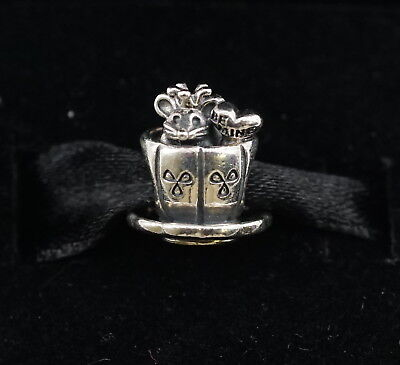 Authentic Pandora Be Mine Silver Enchanted Mouse in a Cup Be Mine Charm 791107 - Mine Mouse
