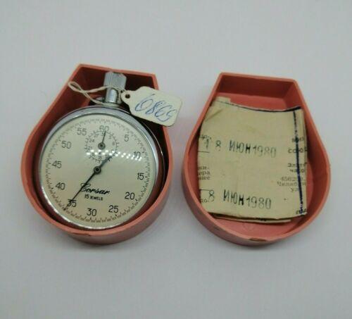 ☭ NOS New Stopwatch AGAT 4282 Mechanical 15 Jewels USSR Vintage Soviet Original