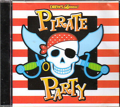 Drews Famous Pirate Party  Kids Summer Birthday Pool Party Music Cd  18 Tracks