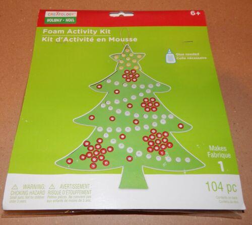 Christmas Craft Foam Activity Kit Creatology 104pc Hanging Pony Beads Tree 93C