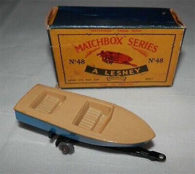 Repro box Matchbox 1:75 nº 48 trailer//sportboat