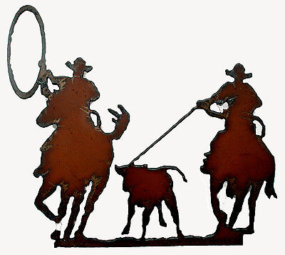 Western Kitchen Decor Team Calf Roping Rodeo Magnet New Cowboy Rustic Magnet