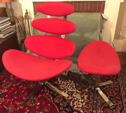 Corona Chair & Ottoman After POUL VOLTHER Mid-century Modern Danish