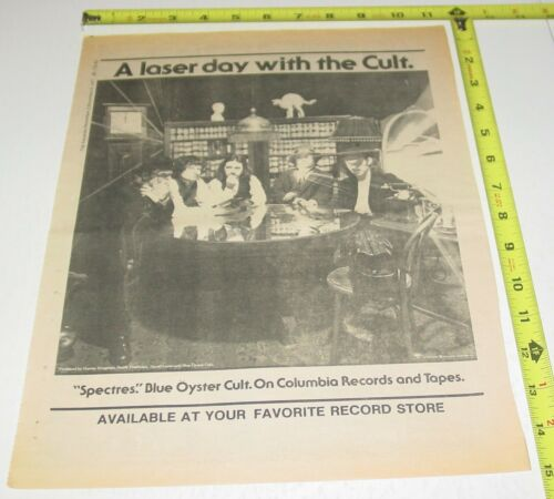 Blue Oyster Cult BOC Album Full Page AD Advert 1977 Spectres Columbia Records #2