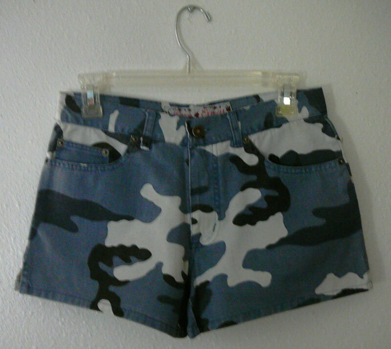 COTTON EXPRESS SHORTS~Blue Camo Design~Flat Front~Short~Junior 3~NWT~FREE SHIP