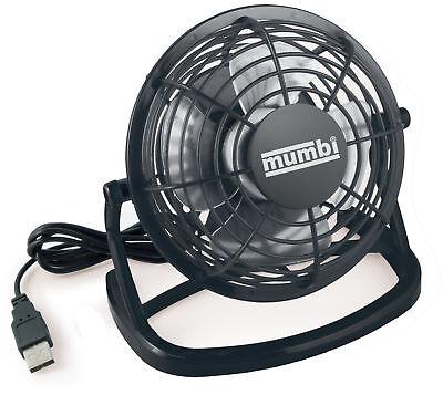 mumbi USB Ventilator Mini Tisch Venti Fan f. Computer Notebook Laptop schwarz (Computer Mini-laptop)