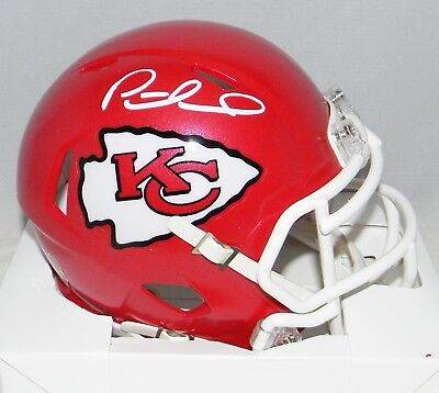 2e9668b3b PATRICK MAHOMES AUTOGRAPHED SIGNED KANSAS CITY CHIEFS SPEED MINI HELMET JSA