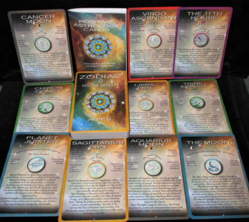 SEALED NEW!  POSITIVE ASTROLOGY CARDS & BOOKLET ENHANCE & ENRICH YOUR LIFE