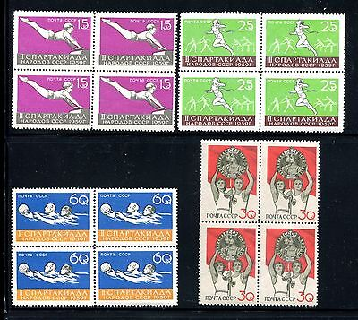 Russia 2224-2227 MNH 2nd National Spartacist Games 1959 Gymnast Runner x22099