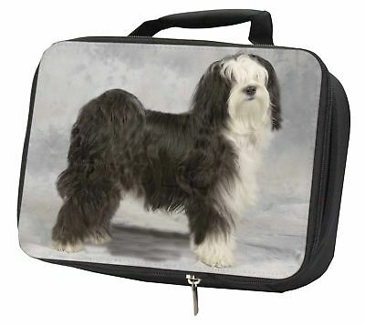 Tibetan Terrier Dog Black Insulated School Lunch Box Bag, AD-TT3LBB