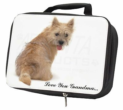 Cairn Terrier 'Love You Grandma' Black Insulated School Lunch Box , AD-CT1lygLBB