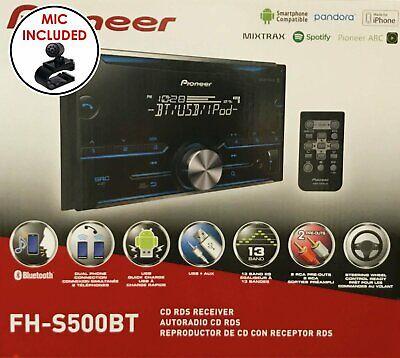 Pioneer FH-S500BT Double Din CD Receiver w/ Bluetooth   Pandora   Spotify   USB