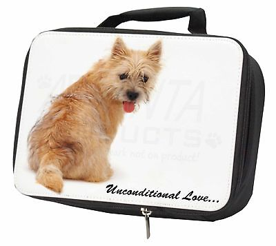 Cairn Terrier Dog With Love Black Insulated School Lunch Box Bag, AD-CT1uLBB