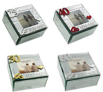 Trinket Keepsake Box Wedding Anniversary Gift Ideas 25th 40th 50th 60th