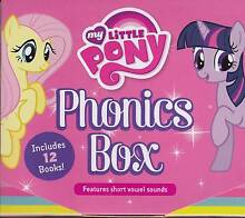 MY LITTLE PONY PHONICS BOX WITH CARRY HANDLE ( 12 BOOKS ) NEW Elizabeth Town Meander Valley Preview