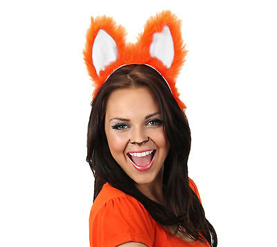 Moving Ears Sexy Fox Animal Adult Costume Accessories Sound Activated