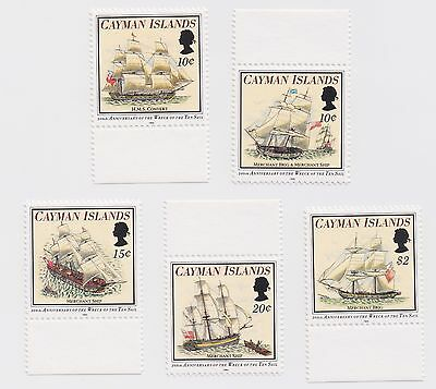 1994 Cayman Islands - 200th Anniversary Wreck of The Ten Sail - Set of 5 Stamps