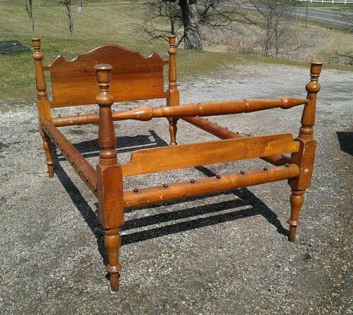 Antique Maple Rope Bed 1860s Era