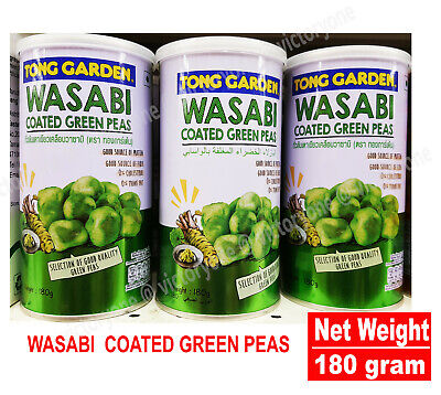 Green Coated Tongs - Wasabi Coated Green Peas Good Quality 180g TONG GARDEN Must Try It 0% Trans Fat