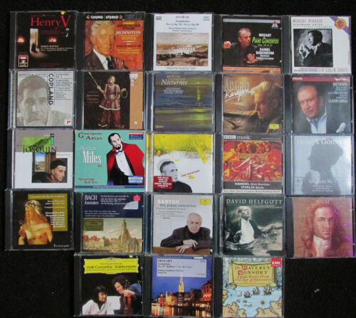 lot of 23 Classical Music etc CDs in very good condition FREE SHIPPING