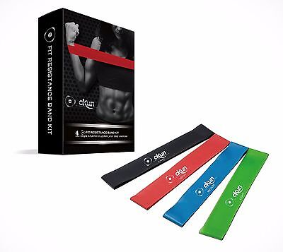 Resistance Loop Bands - Set of 4 Premium Exercise Bands