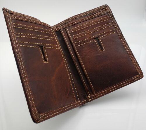 AG Wallets Leather Bifold Wallet Slim Vintage Credit Card ID Holder Minimalist
