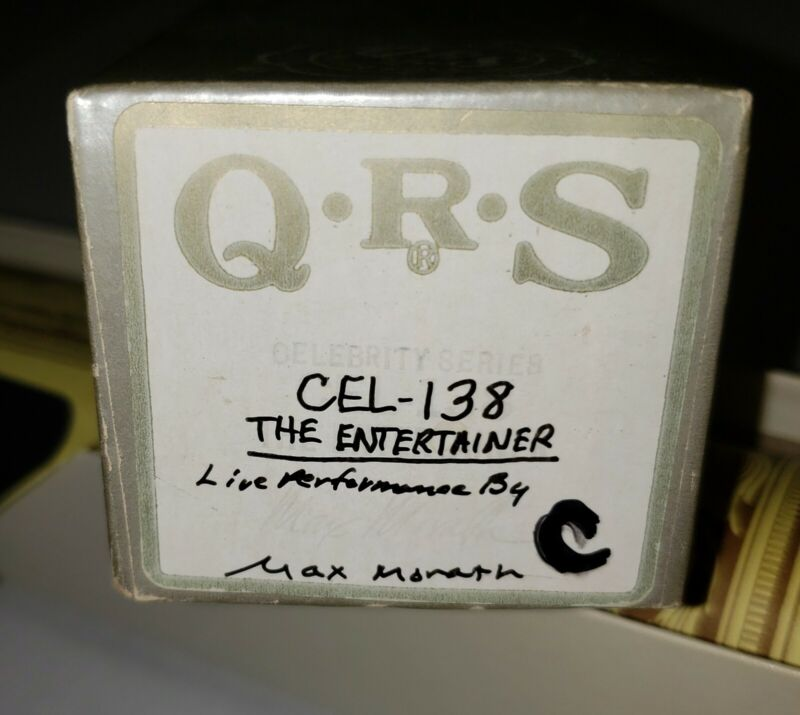 QRS piano player word roll (CEL-138) The Entertainer Celebrity Series Max Morath