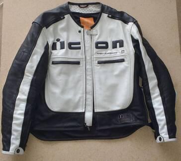 ICON Motorhead Leather Jacket Motorcycle Motorbike Bike Gear