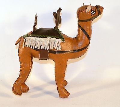 Vintage Handmade Egyptian Camel Souvenir Faux Leather
