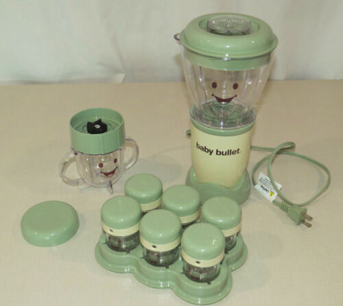 Baby Bullet Baby Food Maker System Set, Base, Blades, Storage