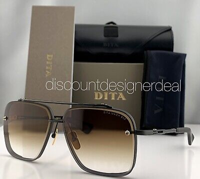 DITA MACH SIX Sunglasses DTS121-62-03 Matte Black Brown Gradient Lens 62mm (Brown Gradient Lens)