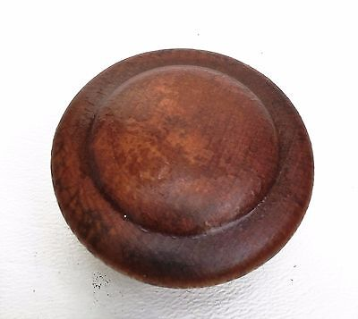 Gorgeous Maple Knob Wood Antique Drawer Pulls Vintage Mushroom Furniture Parts 3