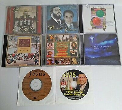Lot of 7 Christmas Cds Casting Crowns Country Classic Pavarotti Carreras Choral  ()