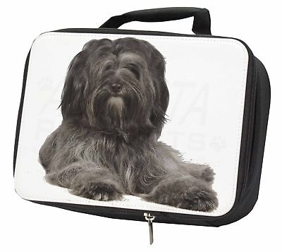 Tibetan Terrier Dog Black Insulated School Lunch Box Bag, AD-TT2LBB