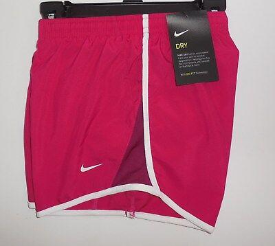 Nike Girls Medium Running Shorts Pink Athletic Training Dri-Fit New 624411-607