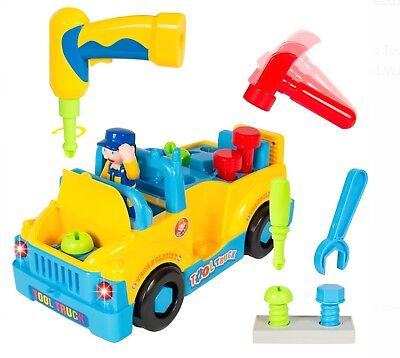 Best Choice Products Bump'n'Go Toy Truck With Electric Drill and Various Tools