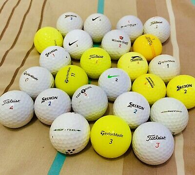40 Grade A/B Used Golf Balls. Mixed Colours/Mixed Brands. Less Than 40p A Ball!!