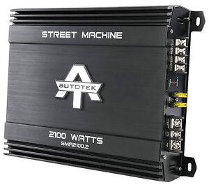 New Autotek SMA2100.2 2100 Watt 2 Channel Amplifier Street Machine Car Audio Amp