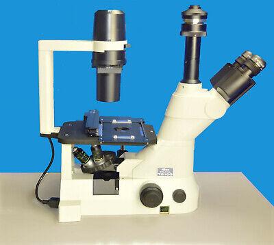 Nikon Eclipse Ts100- F Trinocular Inverted Phase Contrast Microscope